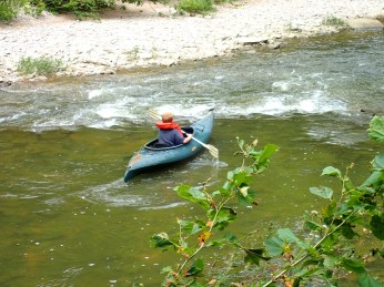 Aiden kayaking.