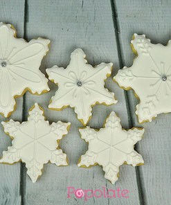 Snowflake ice cookies