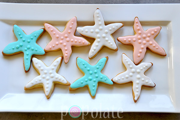 coral undersea iced biscuits cookies decorated