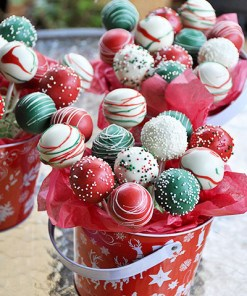 delivered Christmas cake pop gift bouquet