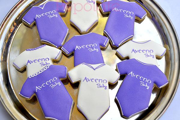 Aveeno Baby onesie cookies