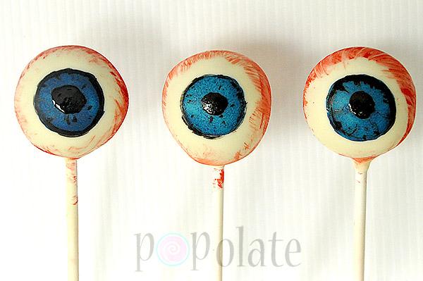 Eye ball cake pops halloween