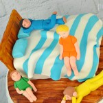 Bed sleepover cake boys