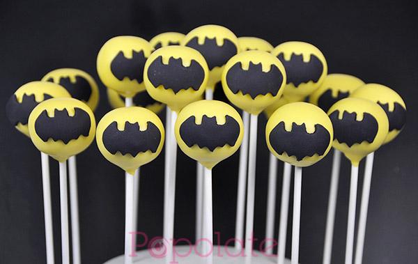 Batman cake pops