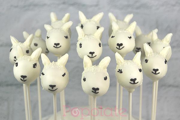 Llama cake pops
