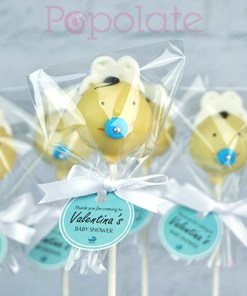 Cake pops with custom label, individually wrapped