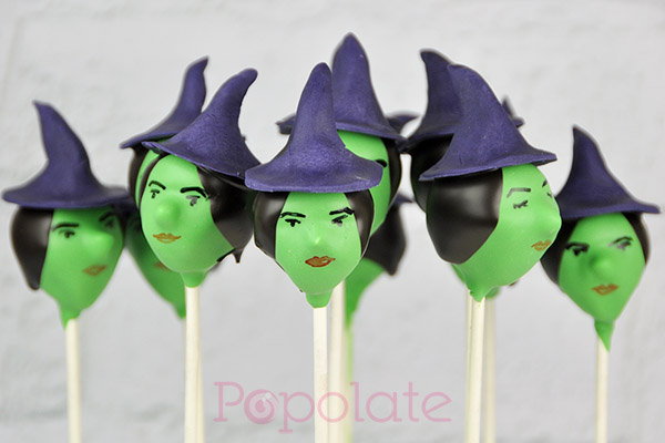 Halloween witch cake pops