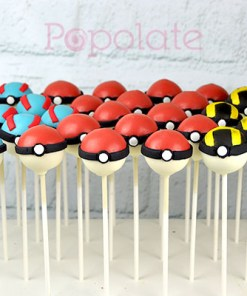 Pokeball Ultraball Greatball cake pops