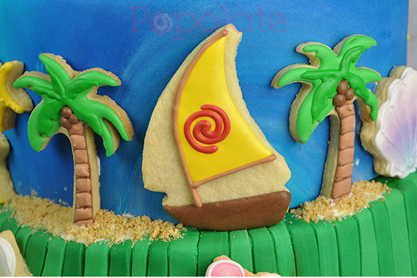 Beach cookie Moana cake