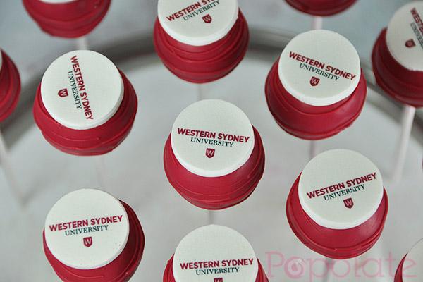 WSU logo cake pops