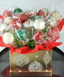 Christmas hamper bouquet cake pop