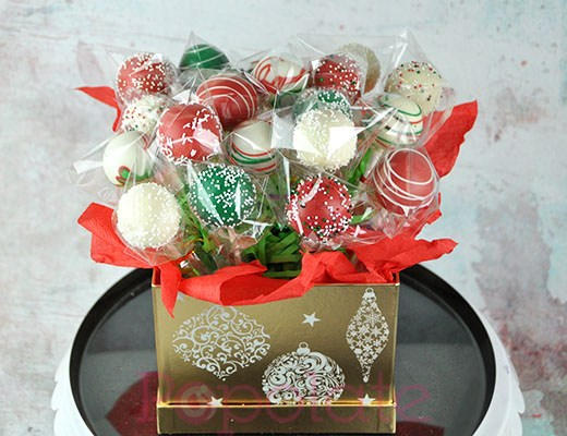 Christmas hamper bouquet cake pop