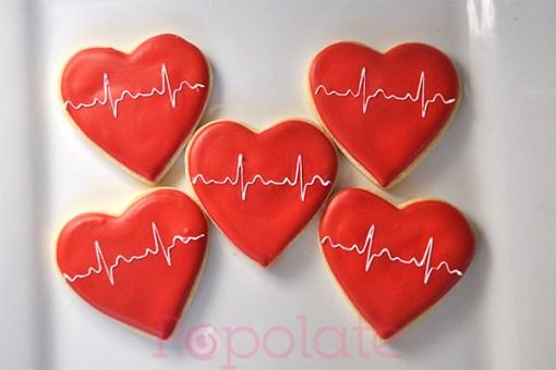 Heartbeat cookies medical health heart Valentine