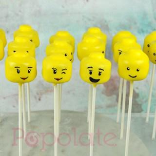 Lego face cake pops