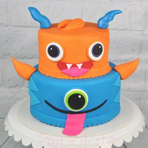 Monster cute birthday cake