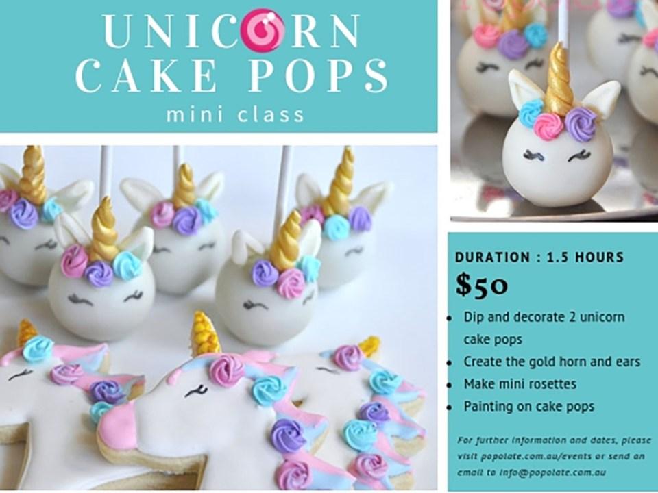 Unicorn cake pop mini class