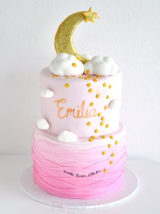 Stars and Moon Pink Cake