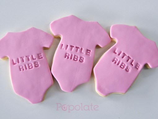 Stamped cookies for baby shower