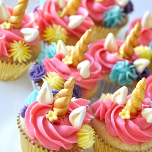 Unicorn Flower Cupcakes
