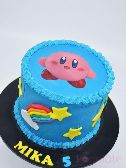 Kirby edible image cake