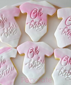 Baby shower Oh Baby cookies