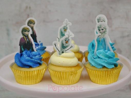 Frozen Elsa and Anna cupcakes