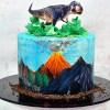 T-Rex dino cake