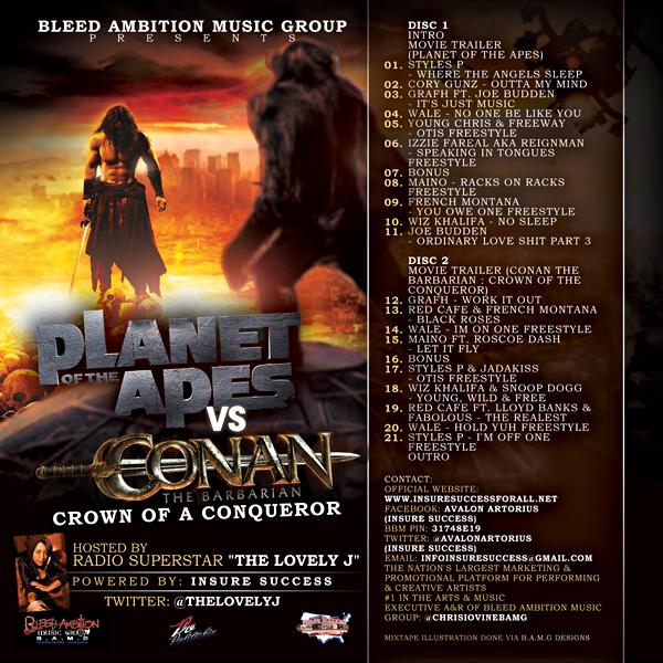 BAMG Presents: Planet of the Apes vs. Conan the Barbarian #mixtapebanger