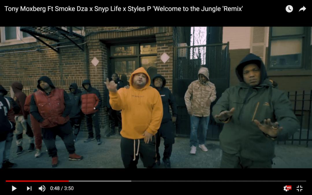 [Video] Tony Moxberg feat. Smoke Dza x Snyp Life x Styles P ' Welcome to the Jungle' (Remix) | @TONYMOXBERG