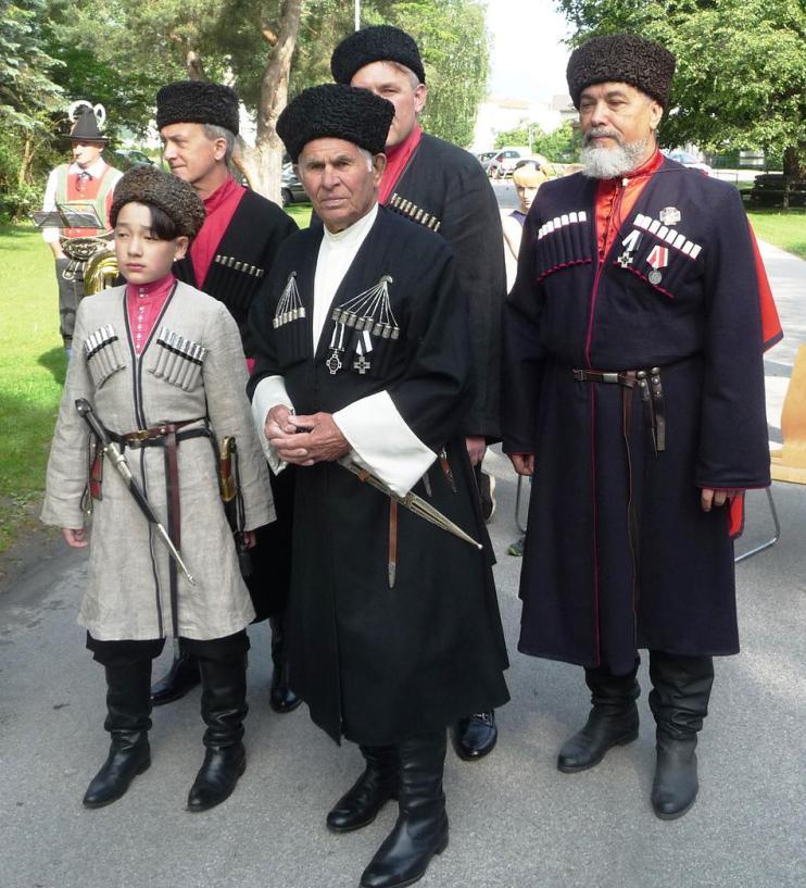 Кубанцы Зарубежья во главе с атаманом А.М. Певневым