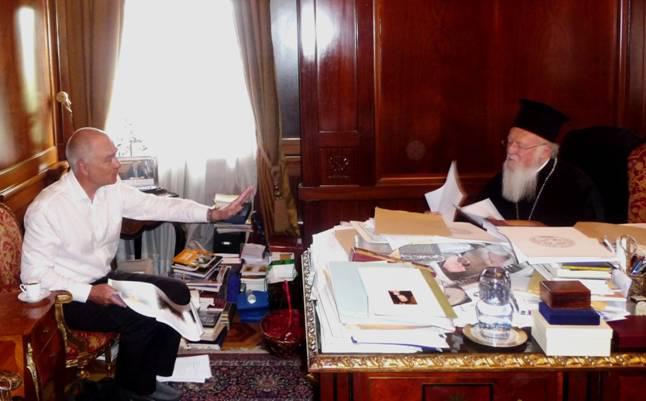 На приеме у Вселенского Патриарха Варфоломея (в рабочем кабинете)