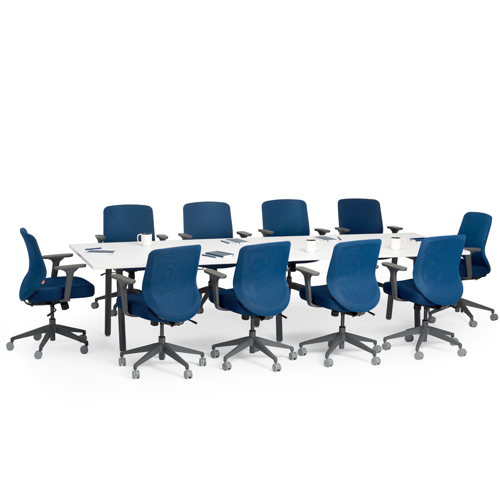 conference tables and chairs gentle chair yoga meeting occasional modern office furniture series a table white 124x42 charcoal legs hi