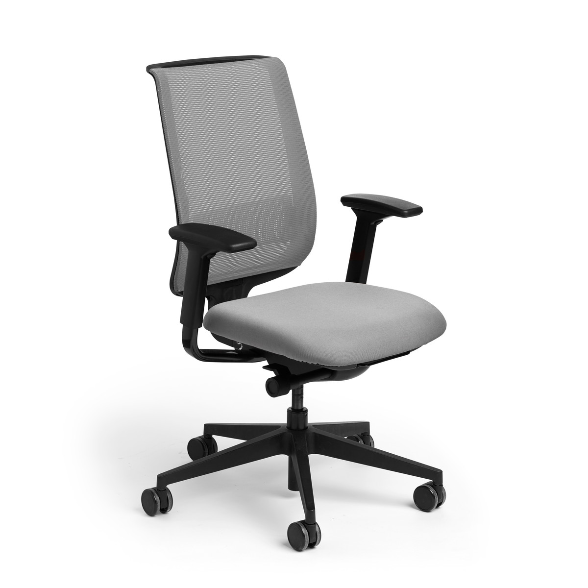 Task Chairs With Arms Gray Reply Task Chair Adjustable Arms Adjustable Lumbar
