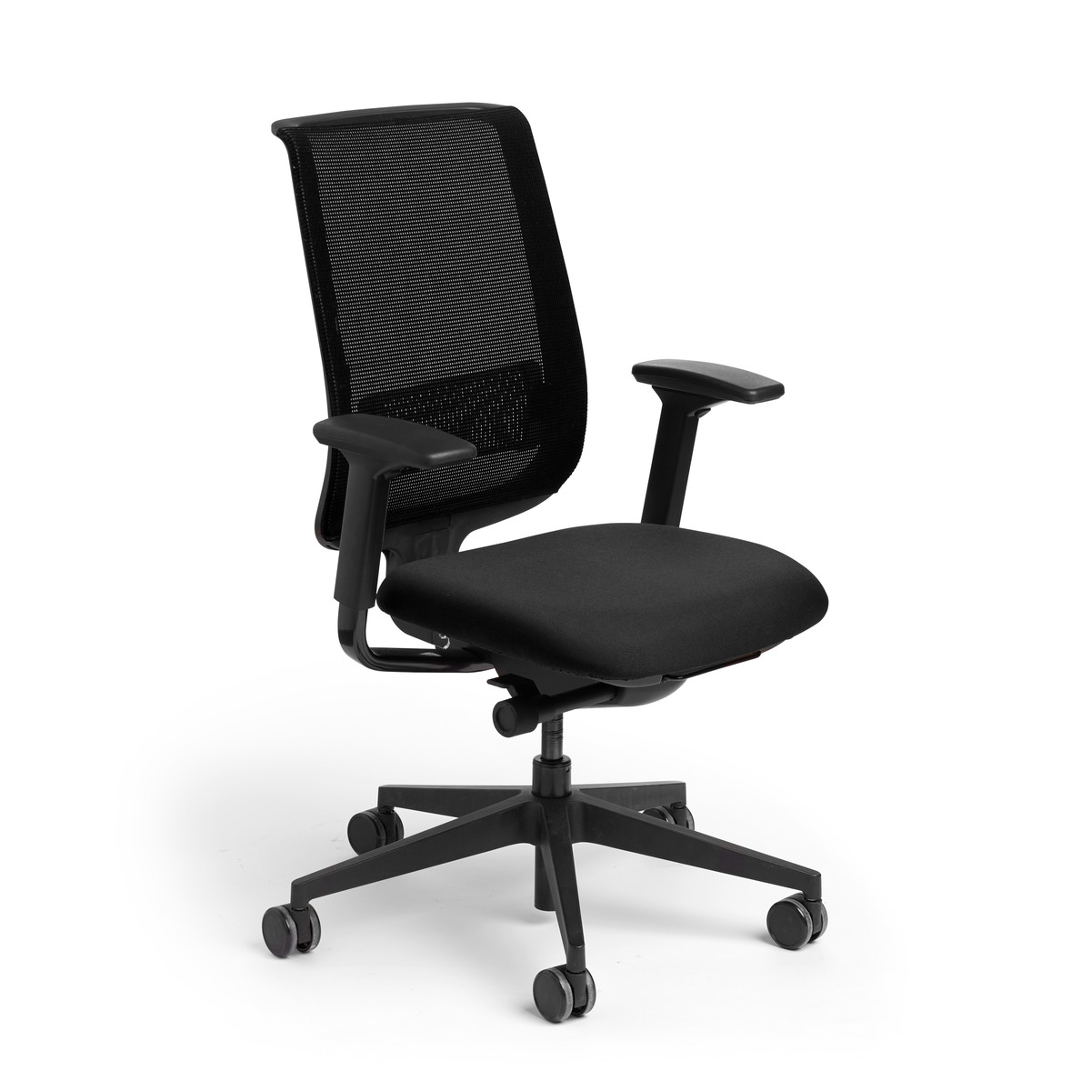 Task Chairs With Arms Black Reply Task Chair Adjustable Arms Adjustable Lumbar