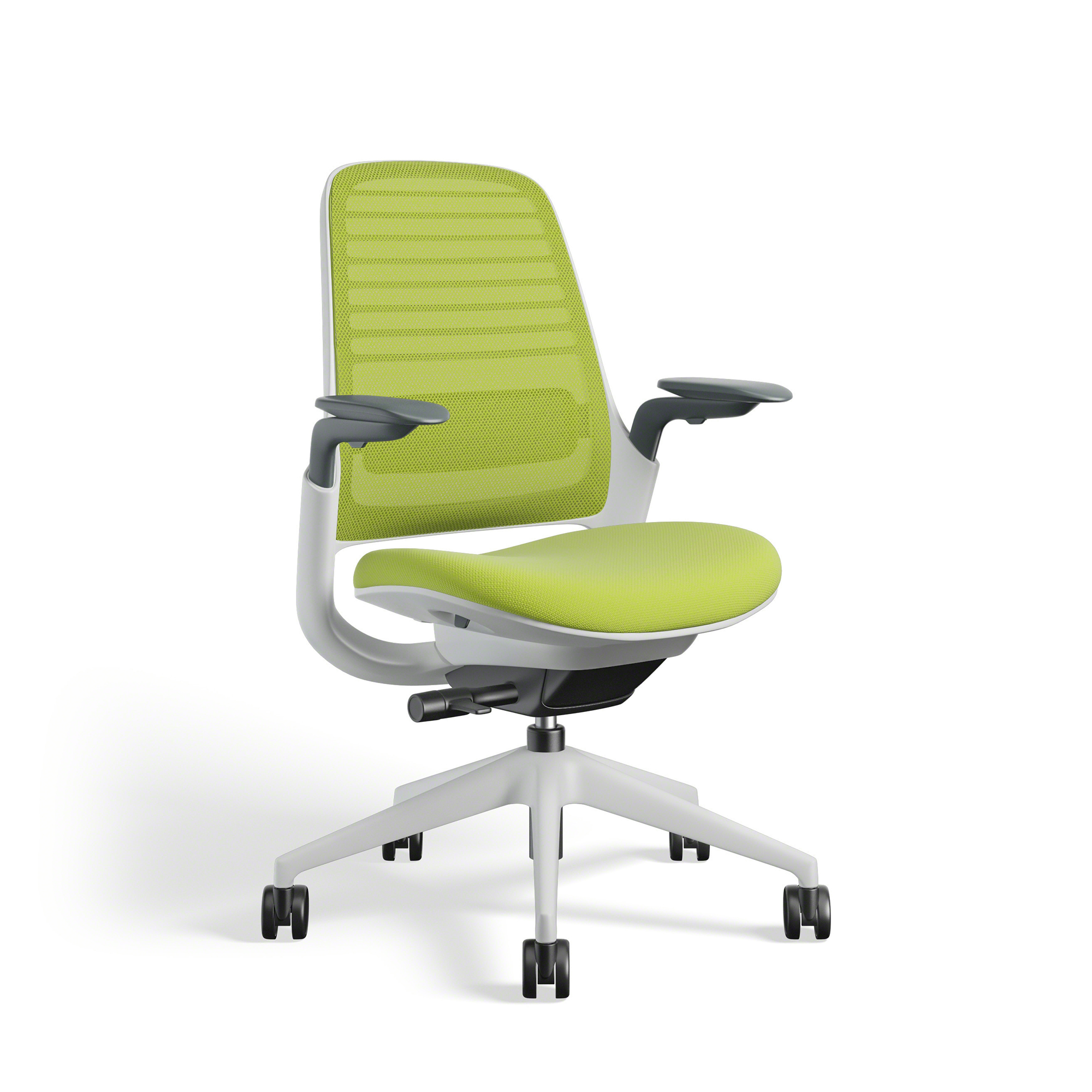 Lime Green Chairs Lime Green Steelcase Series 1 Chair White Frame Office Furniture Poppin