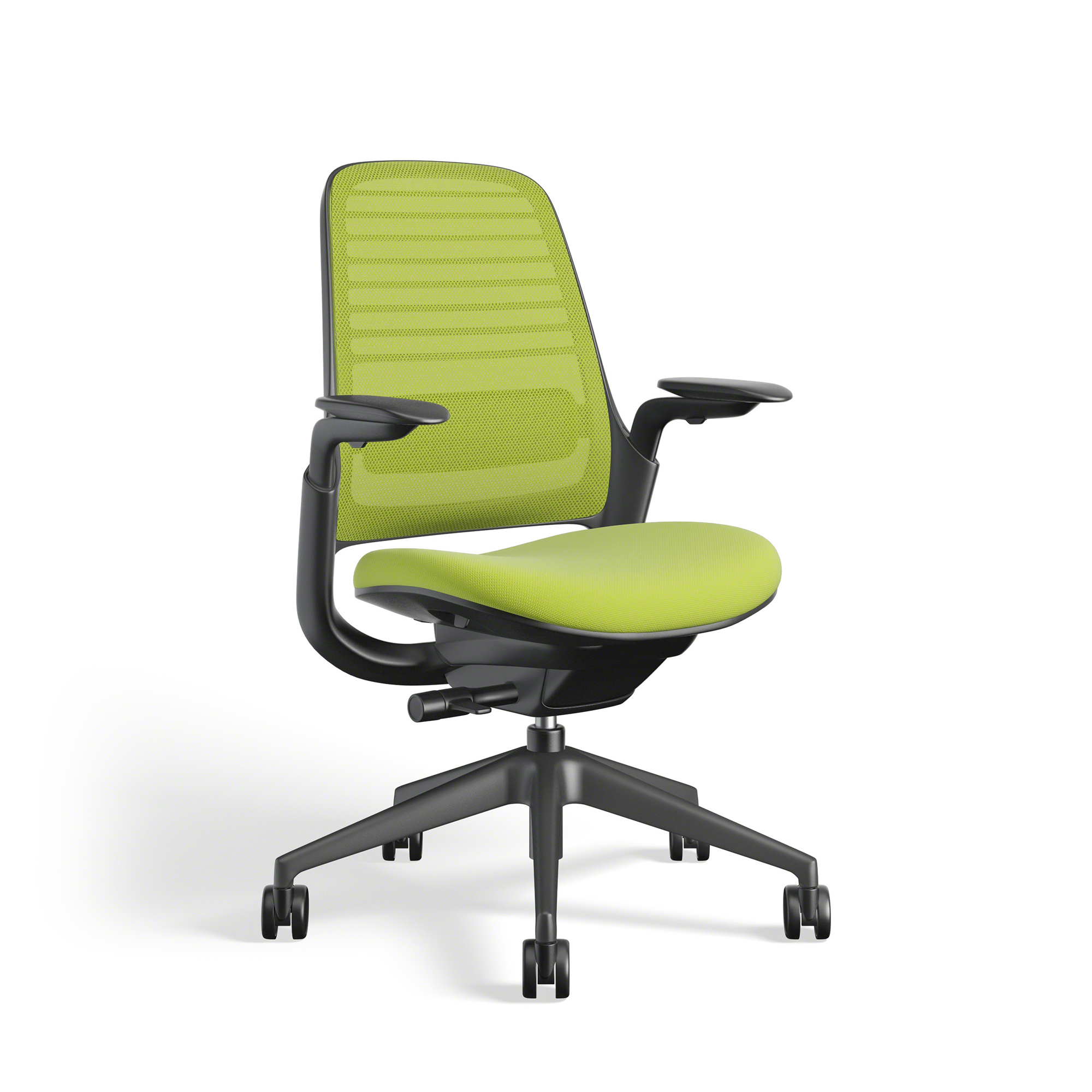 Lime Green Chairs Lime Green Steelcase Series 1 Chair Black Frame Office Furniture Poppin