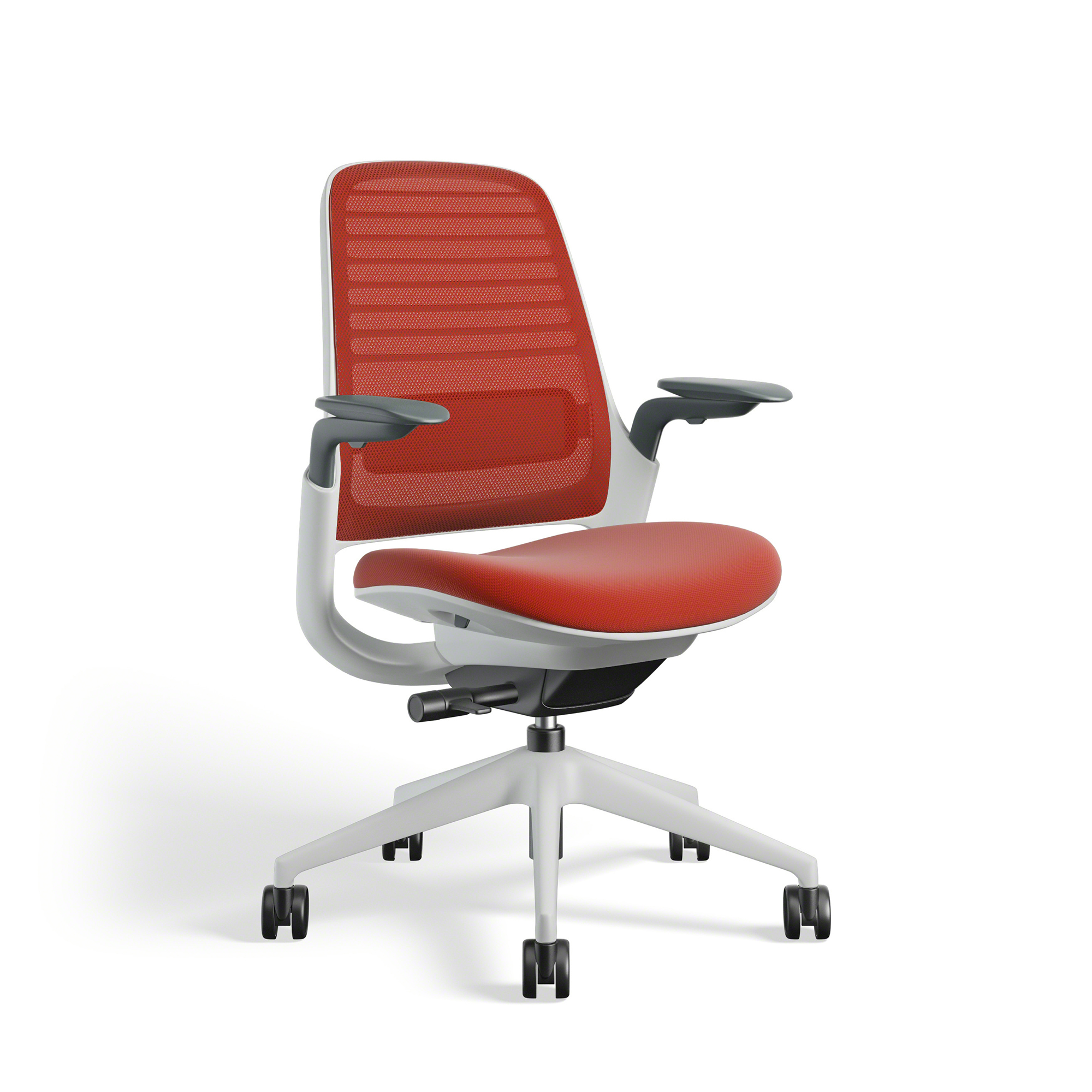 Fit Chair Red Steelcase Series 1 Chair White Frame Office Furniture Poppin
