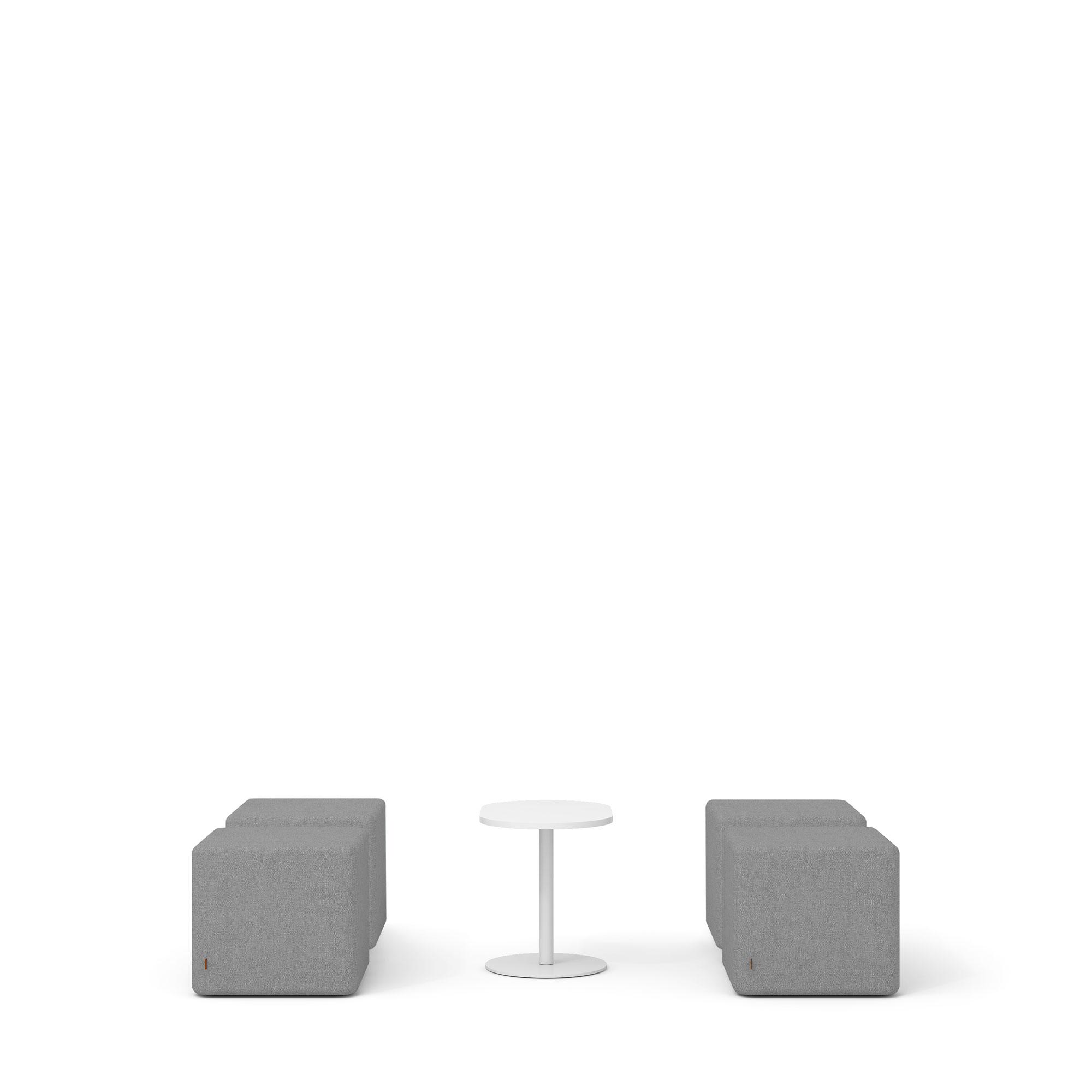gray block party lounge ottomans tucker side table set poppinpod