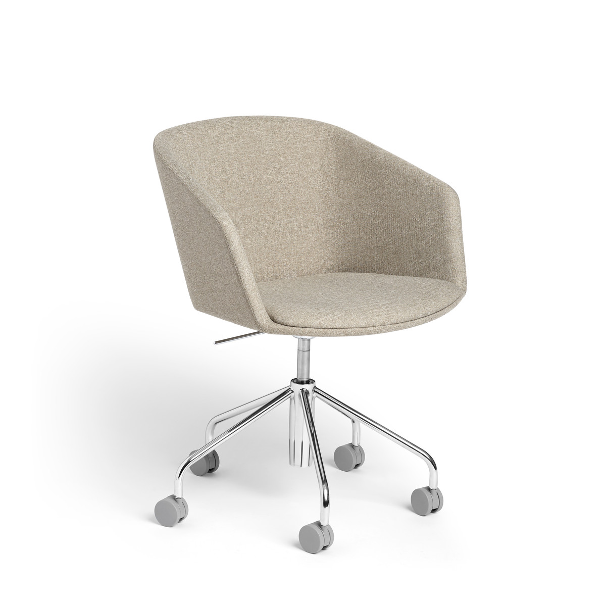 Khaki Pitch Rolling Chair  Modern Office Furniture  Poppin