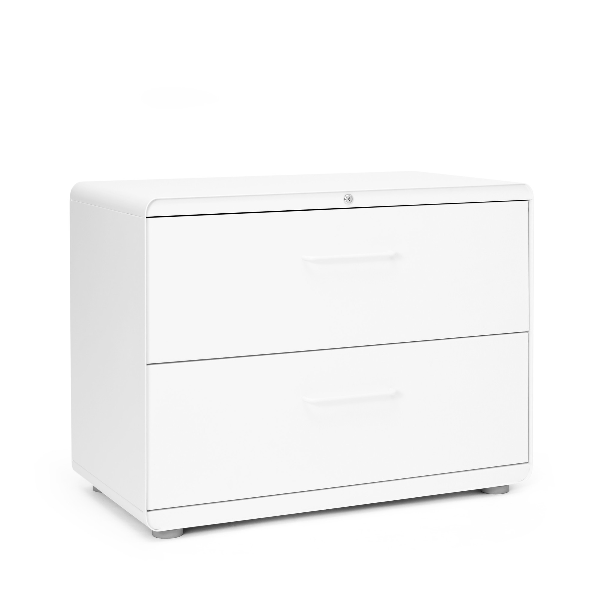 White Stow 2Drawer Lateral File Cabinet  File Cabinets