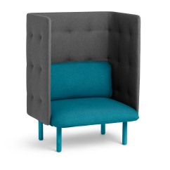 Teal Club Chair Country Dining Room Chairs Dark Gray Qt Privacy Lounge Modern