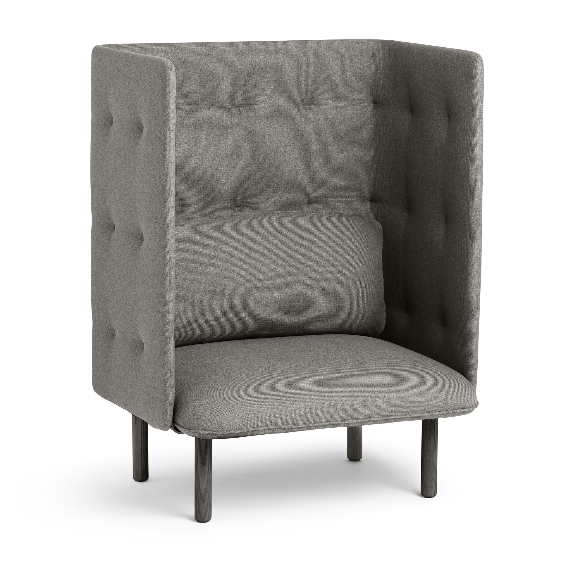 Gray QT Privacy Lounge Chair  Modern Lounge  Privacy