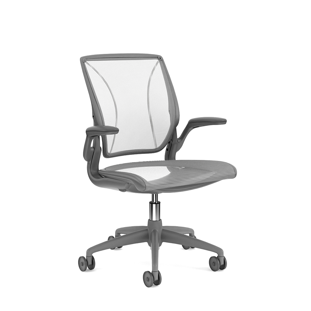 Task Chairs With Arms Pinstripe Mesh White World Task Chair Fixed Arms Gray Frame