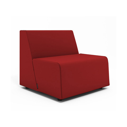 red lounge chair swing warehouse campfire half modern office furniture poppin