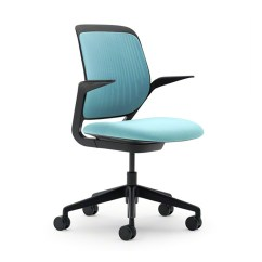 Aqua Desk Chair Fabric Garden Chairs Cobi With Black Frame