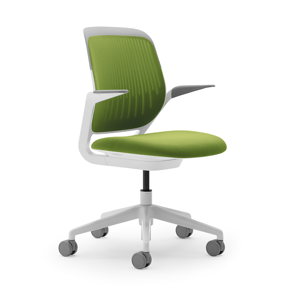 Lime Green Chairs Lime Green Cobi Desk Chair With White Frame Modern Office Furniture Poppin