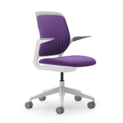 Purple Task Chair Antique Lawn Chairs Cobi Desk White Frame Modern Office Furniture Poppin