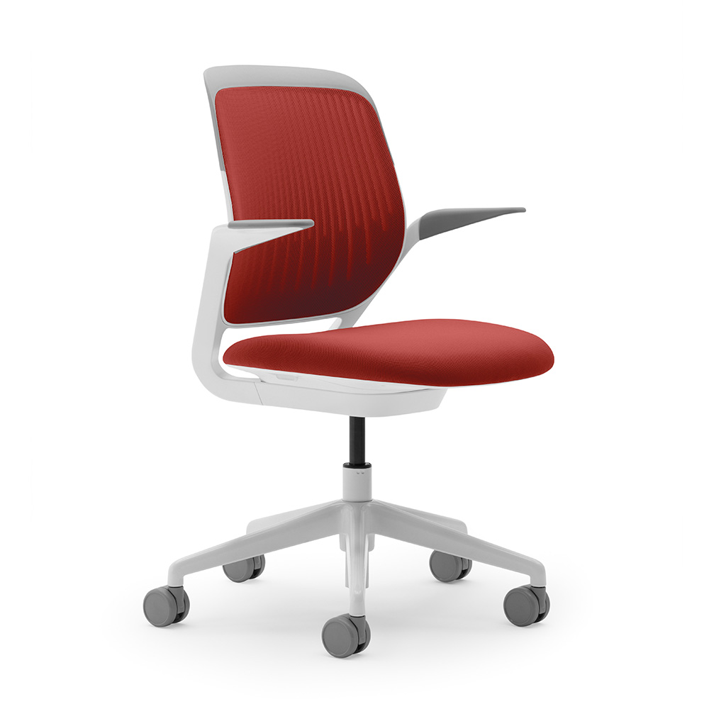 Red Desk Chair Red Cobi Desk Chair White Frame Modern Office Furniture Poppin