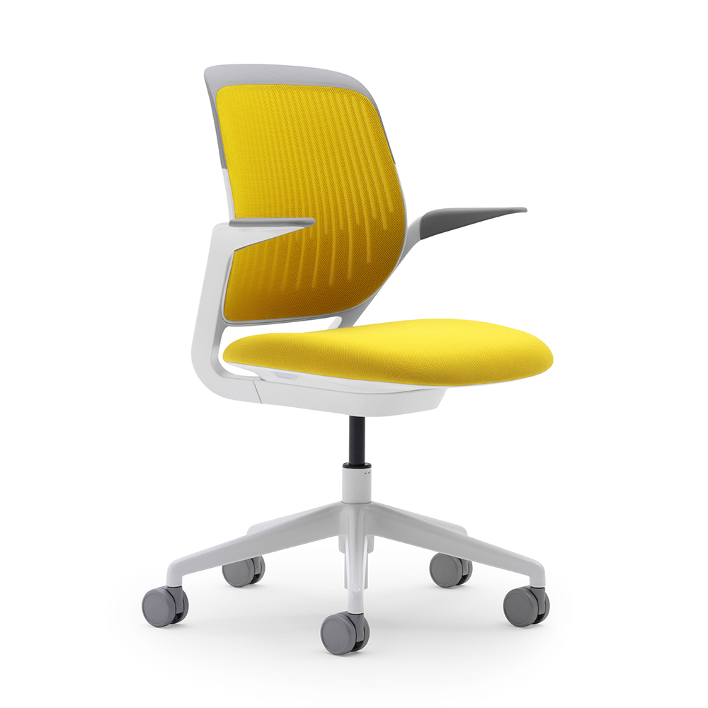 yellow office chair solid gold cobi desk white frame modern furniture poppin