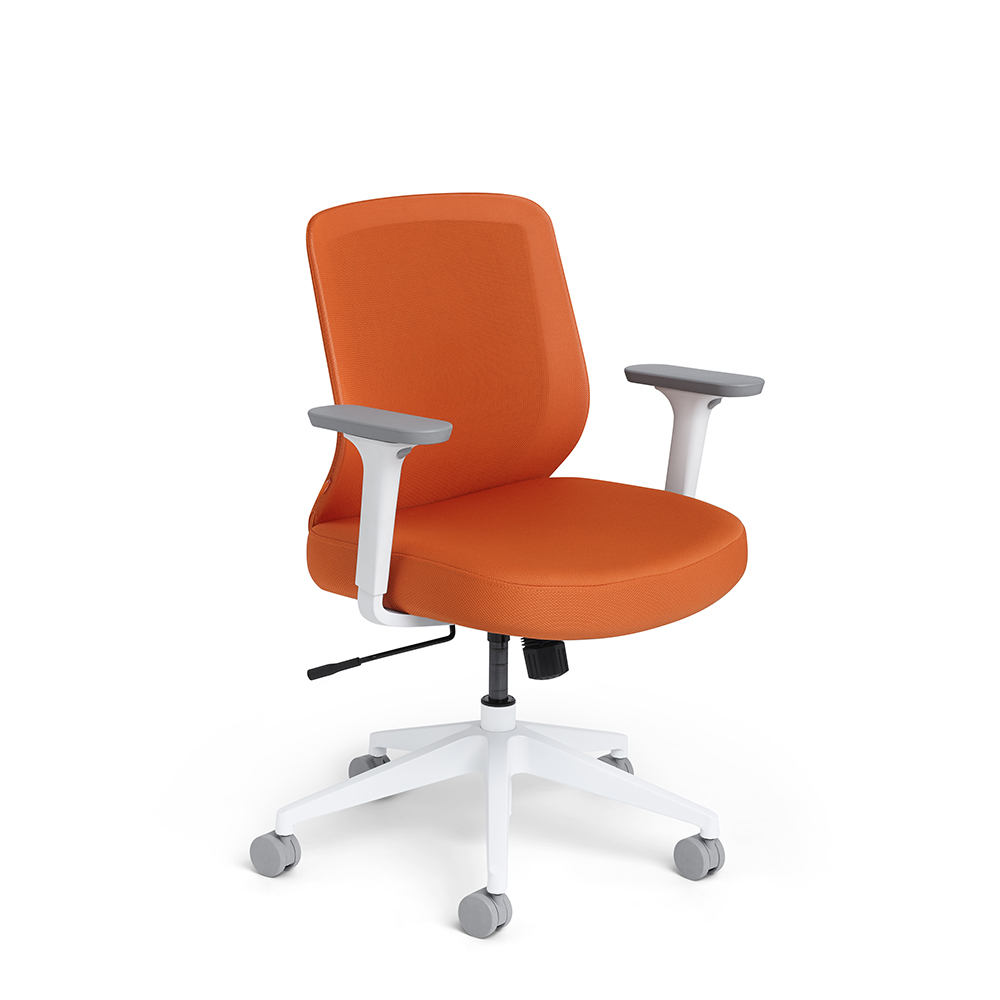colorful desk chairs fancy home office modern furniture poppin orange max task chair mid back white frame hi res